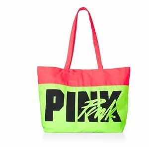 Victoria's Secret Pink Neon Tropical Tote Bag